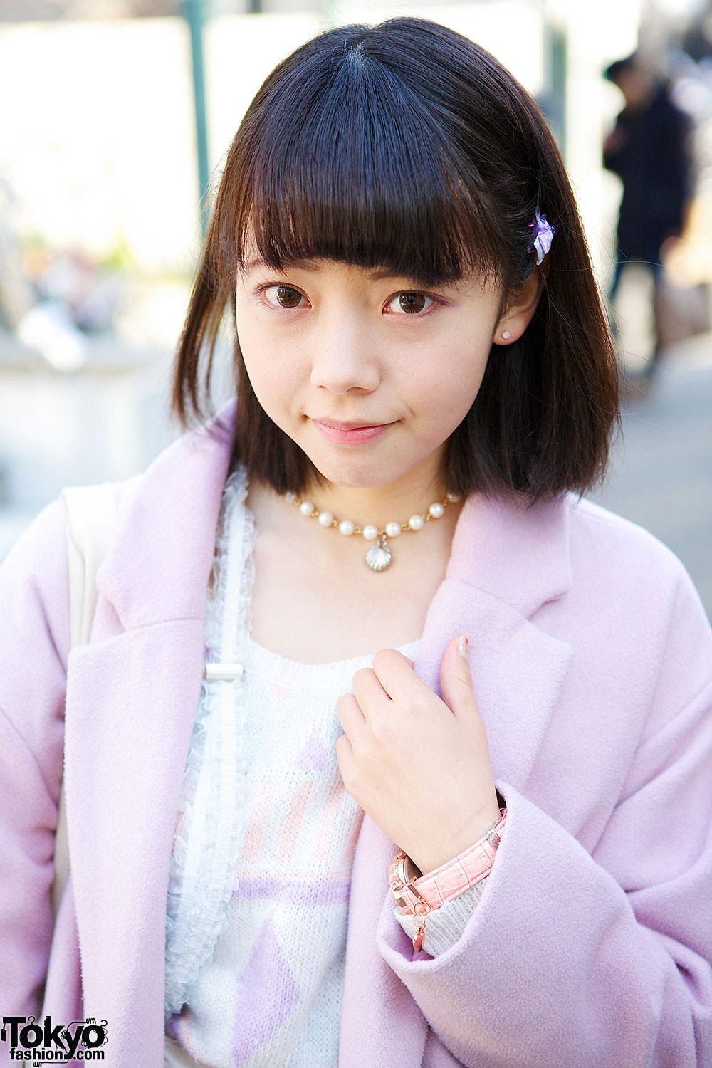 Japanese Idol W Cute Pink Coat Heart Bag Amp Creepers In