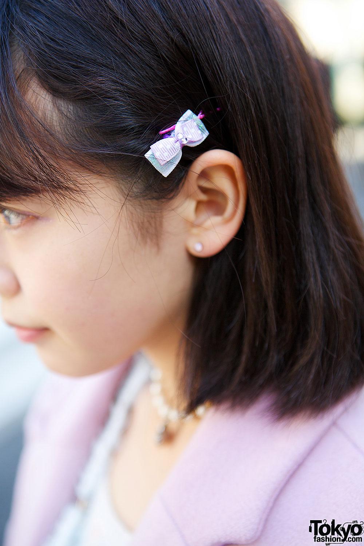Japanese Idol W Cute Pink Coat Heart Bag Amp Creepers In