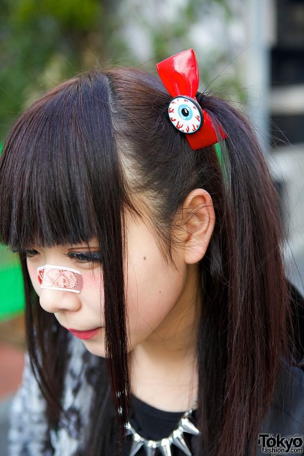 Eyeball Bow Hair Pins