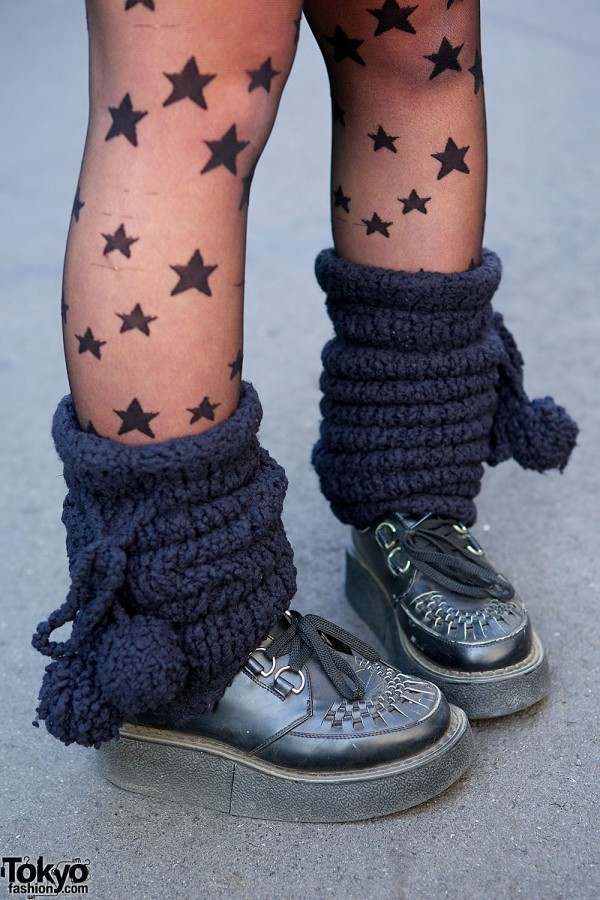 Body Line Shoes with Legwarmers