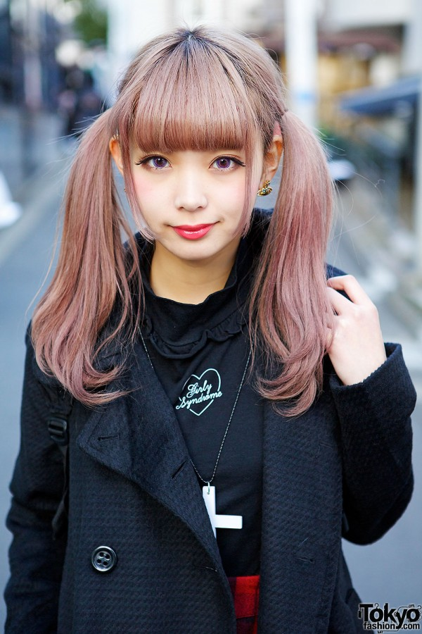 Zipper Model with Pink Twin Tails