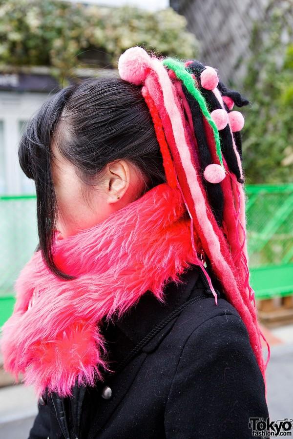 Colorful Hair Falls