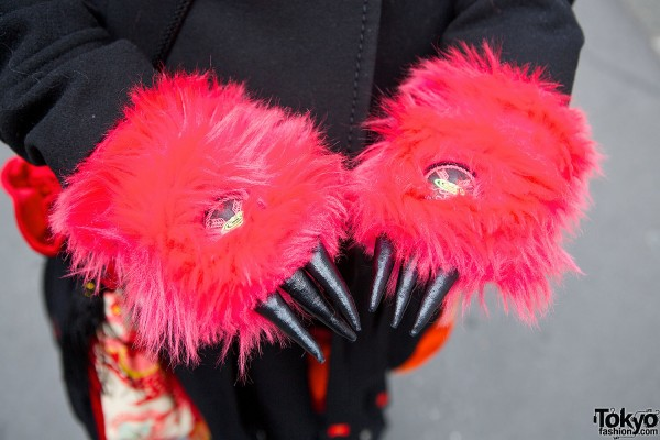 Pink Takuya Angel Gloves with Claws