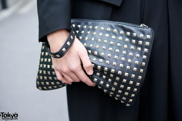 Studded Clutch & Bracelet