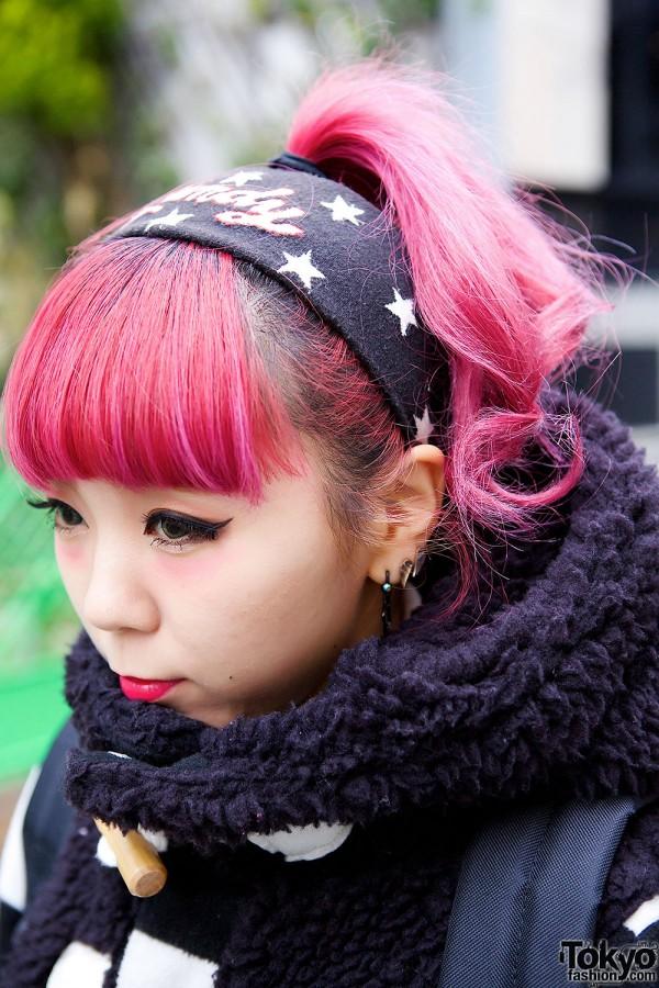 Pink Hair & Star Headband