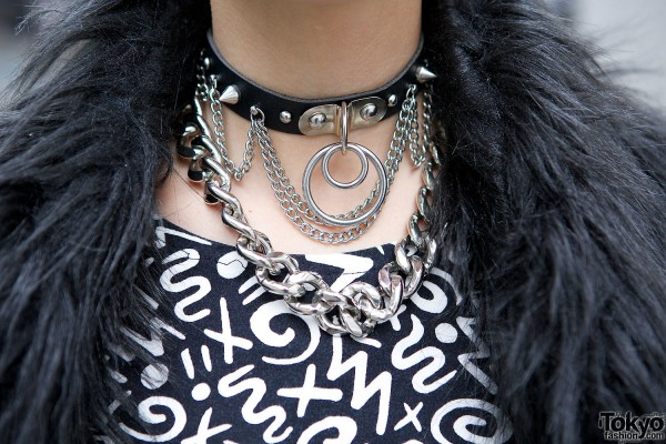 Leather & Chains Choker