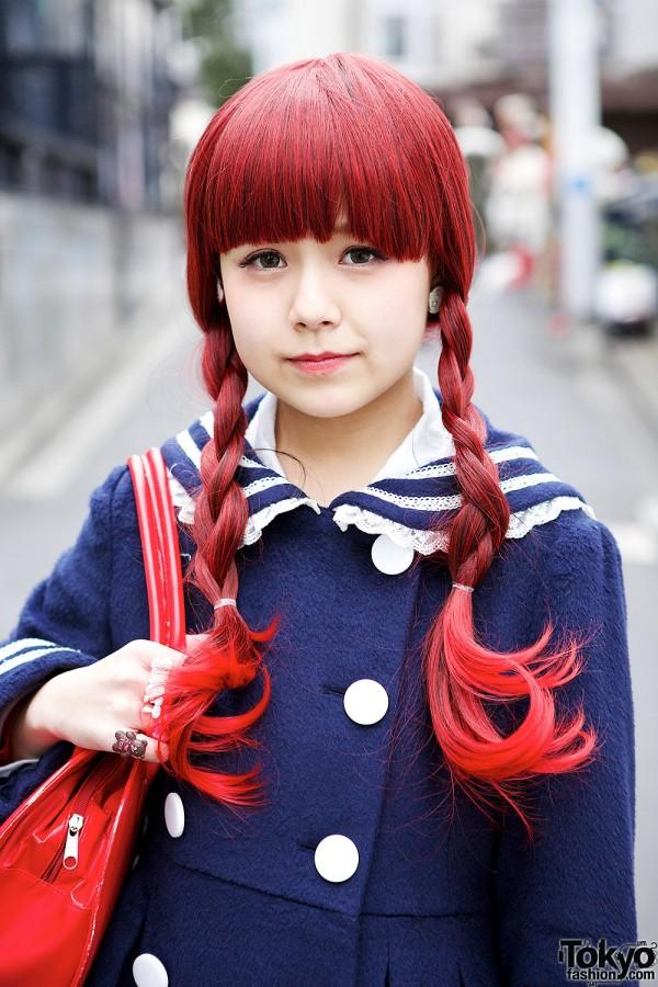 Red Braided Hair