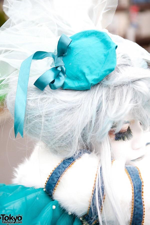 Blue Shironuri Headpiece