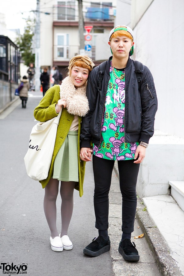 Cute Harajuku Guy & Girl Fashion