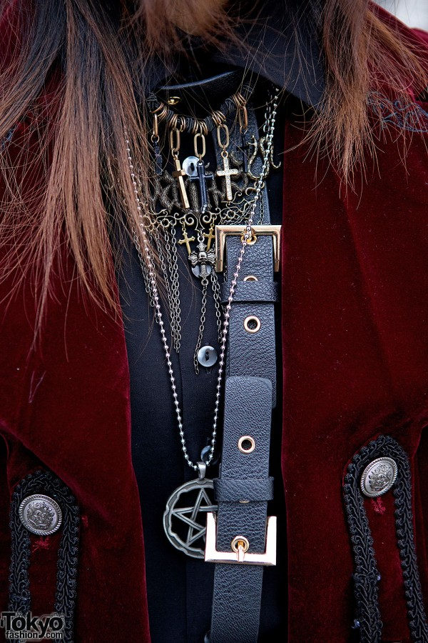 Layered necklaces & harness