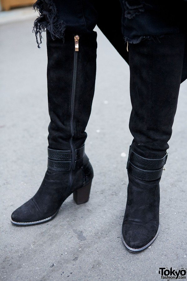 Heeled gothic boots