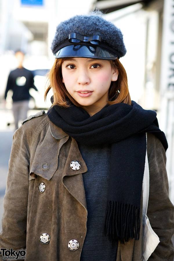 Suede Coat in Harajuku