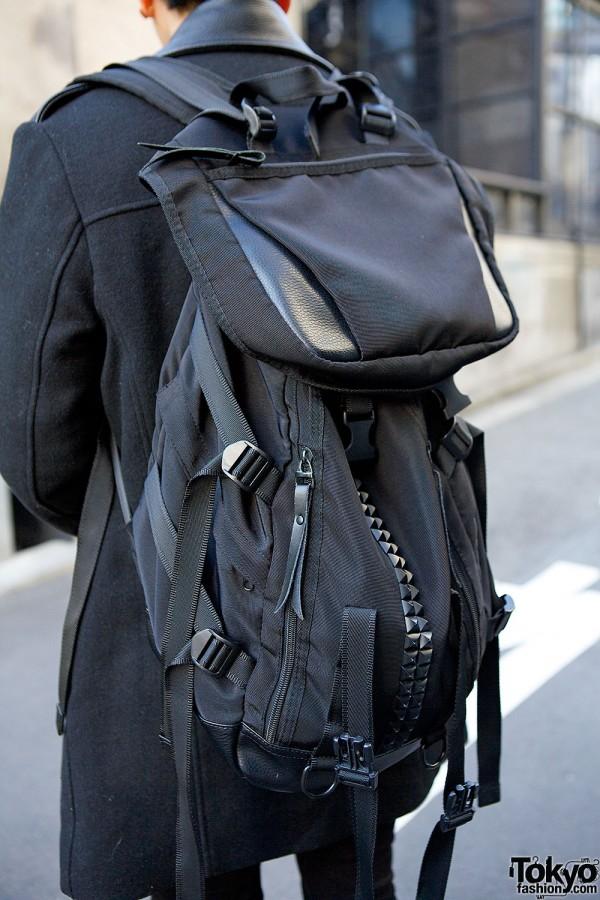 Black Studded Backpack