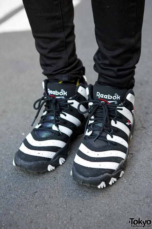 Striped Reebok Sneakers