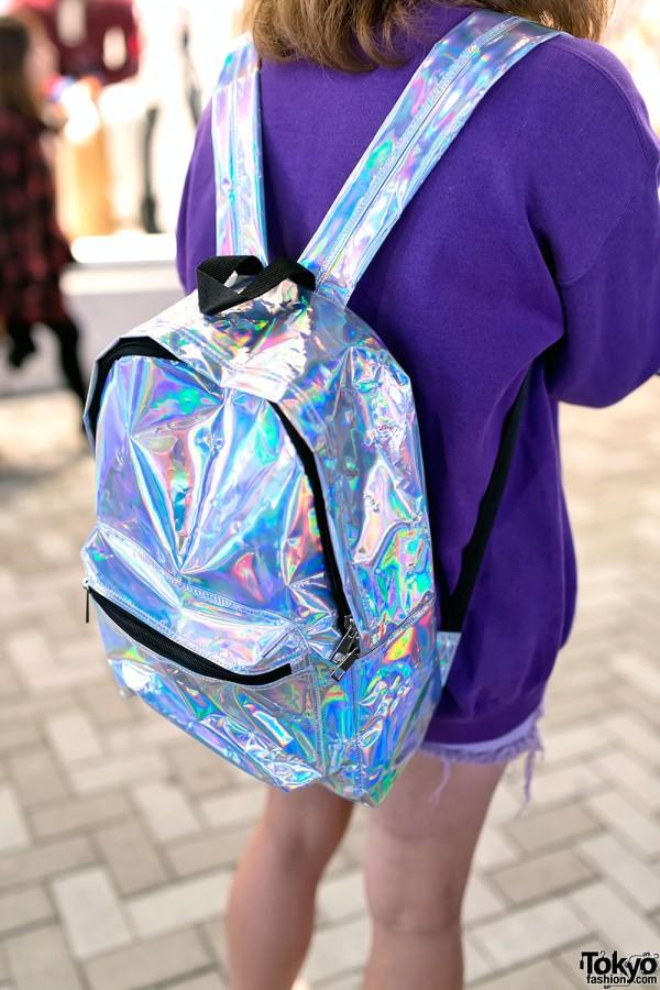 Metallic Backpack from Bubbles Harajuku