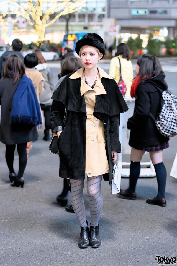 Suede Overcoat in Shibuya
