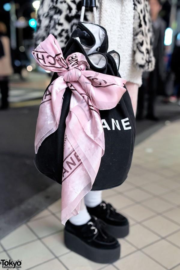 Chanel Purse & Chanel Scarf