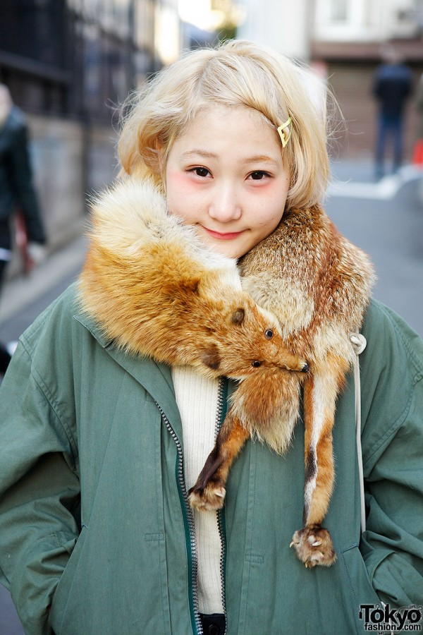 Harajuku Girl in Issey Miyake Jacket