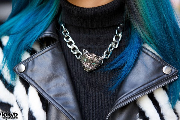 Tiger Head Chain Necklace