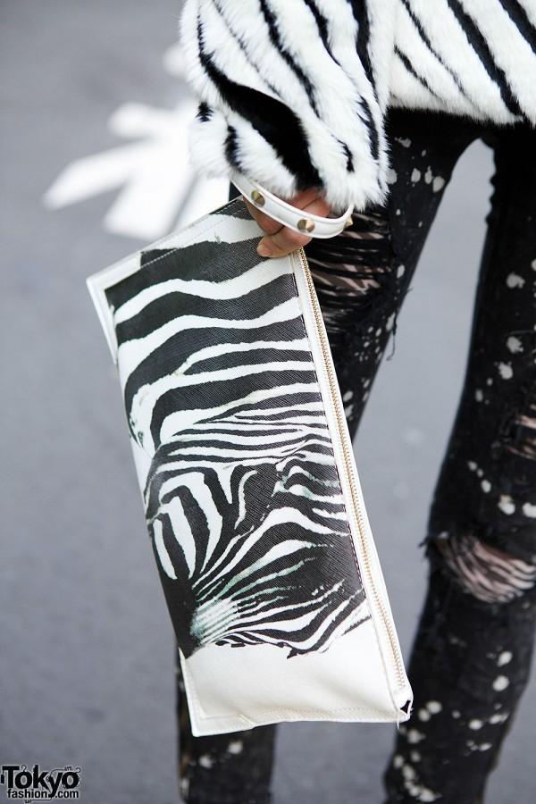 Bershka Zebra Clutch