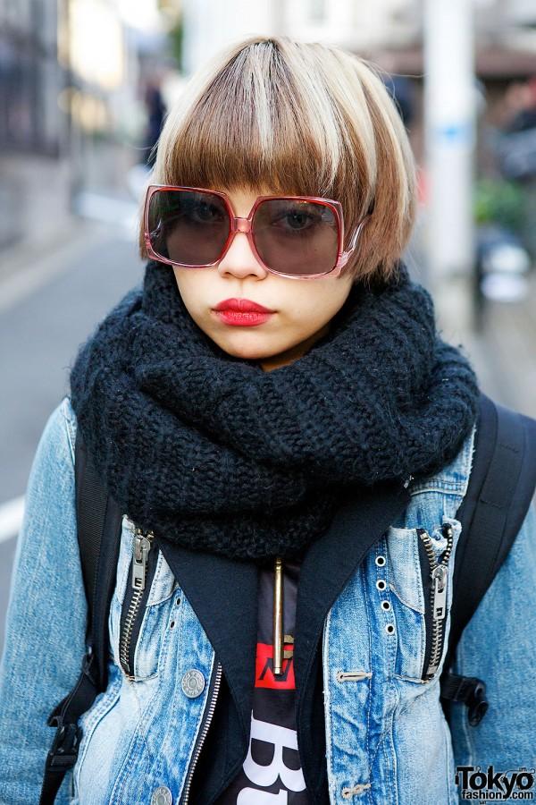 Square Sunglasses & Scarf