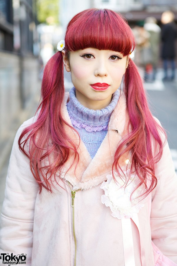 Pink Twin Tails Hair