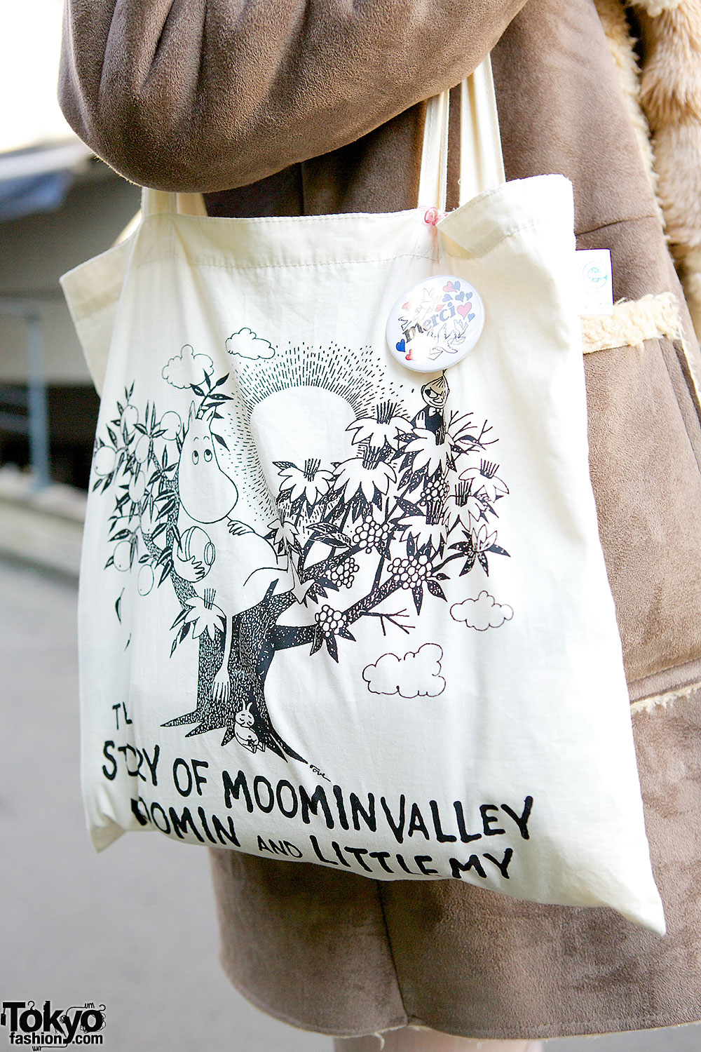 Quot Moomin And Little My Quot Tote Syrup Muffler Amp Shearling