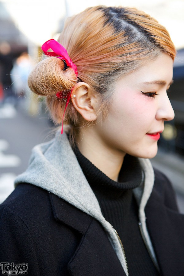 Pink Hair Ties & Double Buns