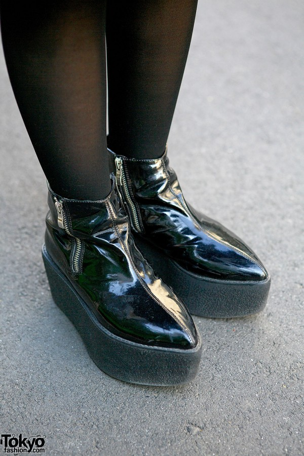lilLilly Patent Booties