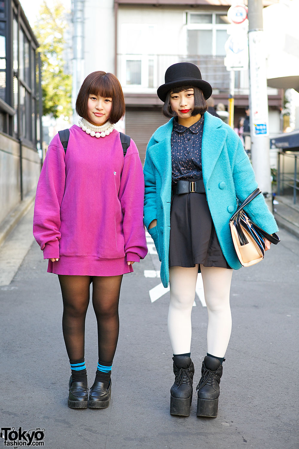 Harajuku Girls in Bright Outerwear
