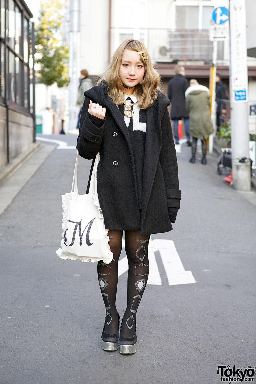 Monochrome Harajuku Look w/ Jouetie, Nice Claup & Vivienne Westwood