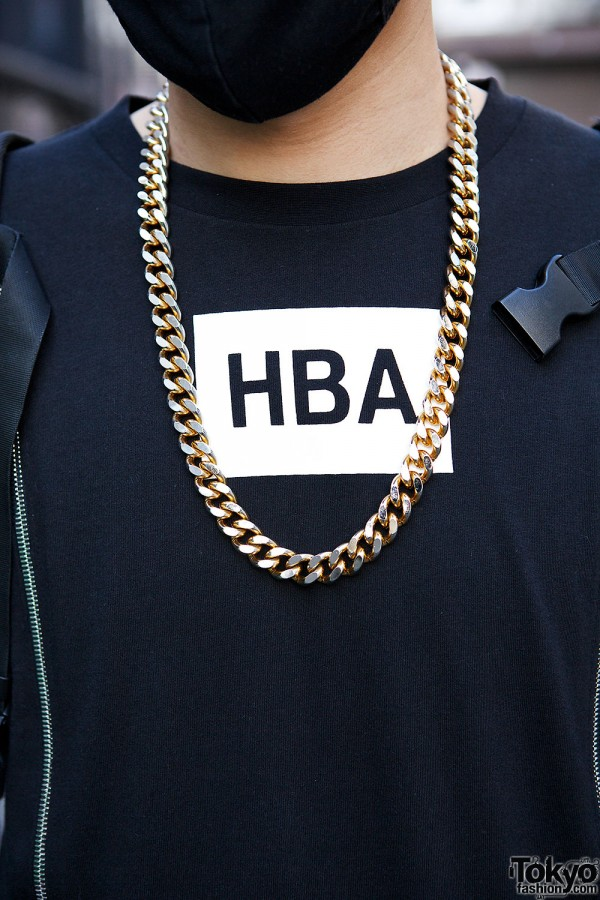 Gold Chain Necklace & HBA Top