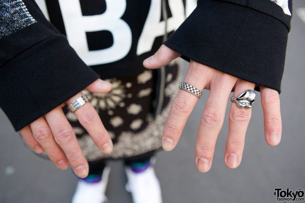 Silver Lips Ring