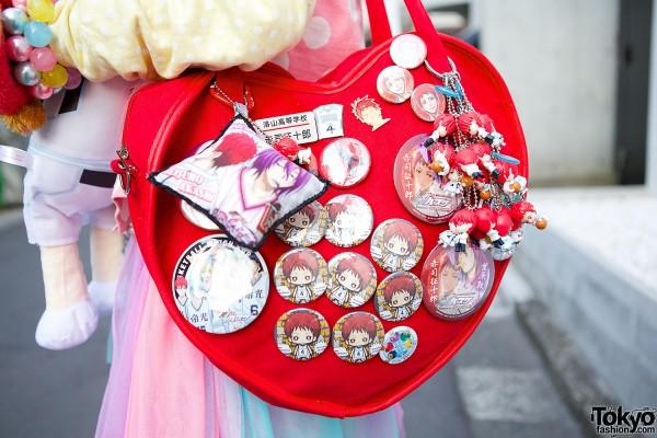G2? Heart Bag & Kuroko no Basuke Pins