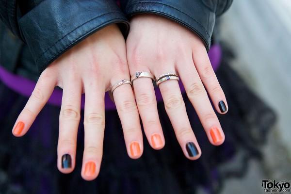 Silver Rings & Nail Art