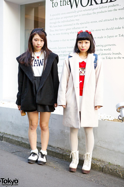 Harajuku Girls in Black, Red & White