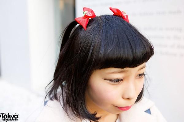 Strawberry Bow Headband
