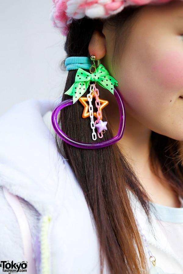 Nile Perch Plastic Earrings