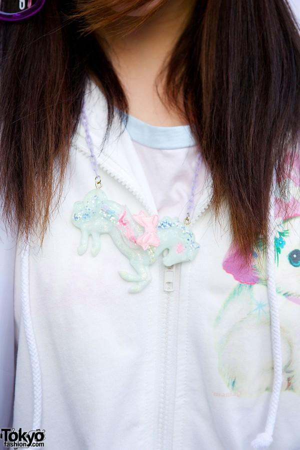 Nile Perch Horse Necklace