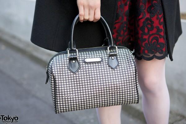 Ralph Lauren Houndstooth Bag