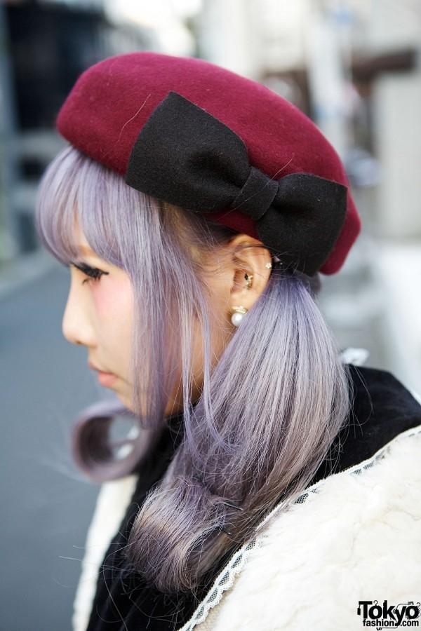Bow Beret & Lilac Hair