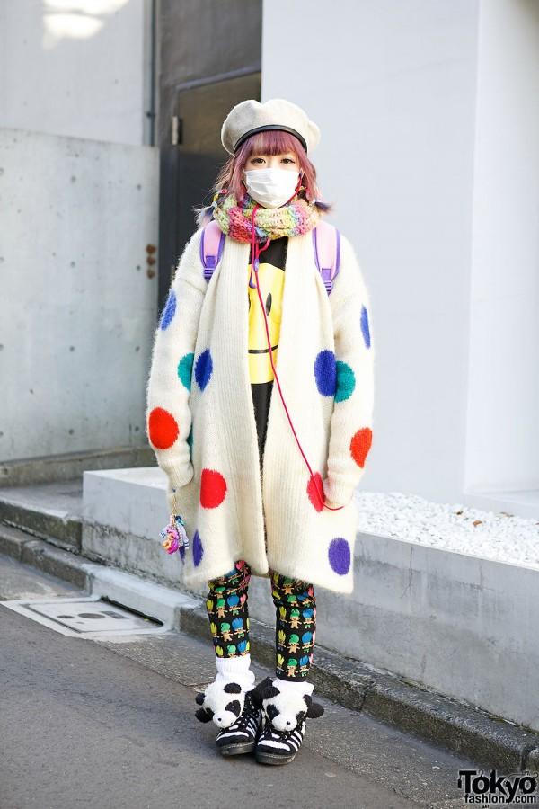 Kyary Fan w/ Troll Dolls, Polka Dots, Panda Sneakers & Princesses in Harajuku