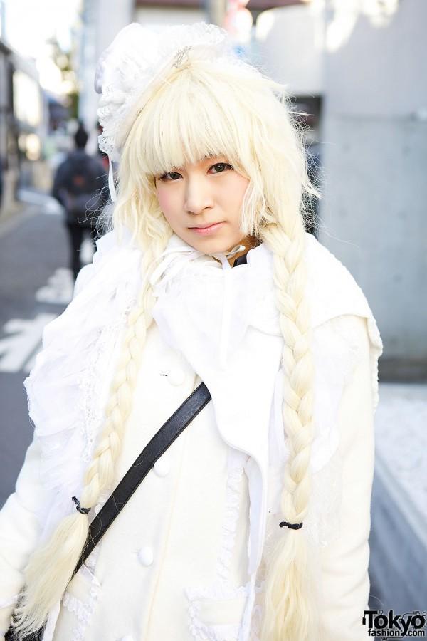 Blond Braided Hair in Harajuku