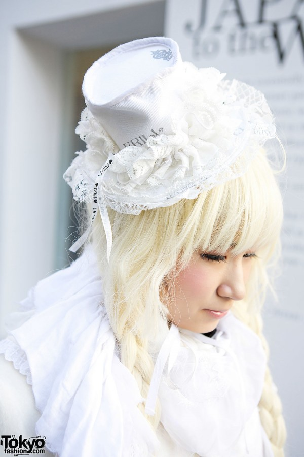h.NAOTO Lace Tophat