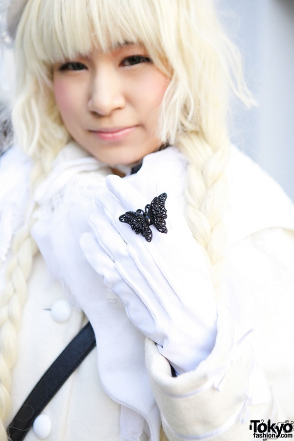 White Gloves & Butterfly Ring