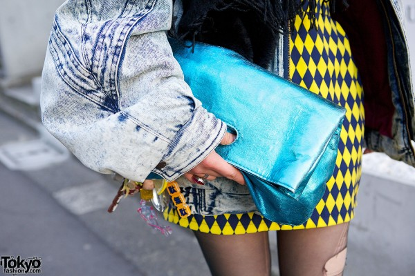 Nadia Harajuku Metallic Clutch