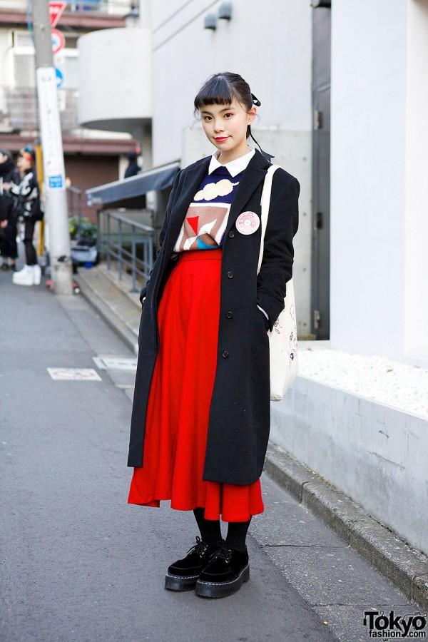 Ruko's Vintage Style in Harajuku