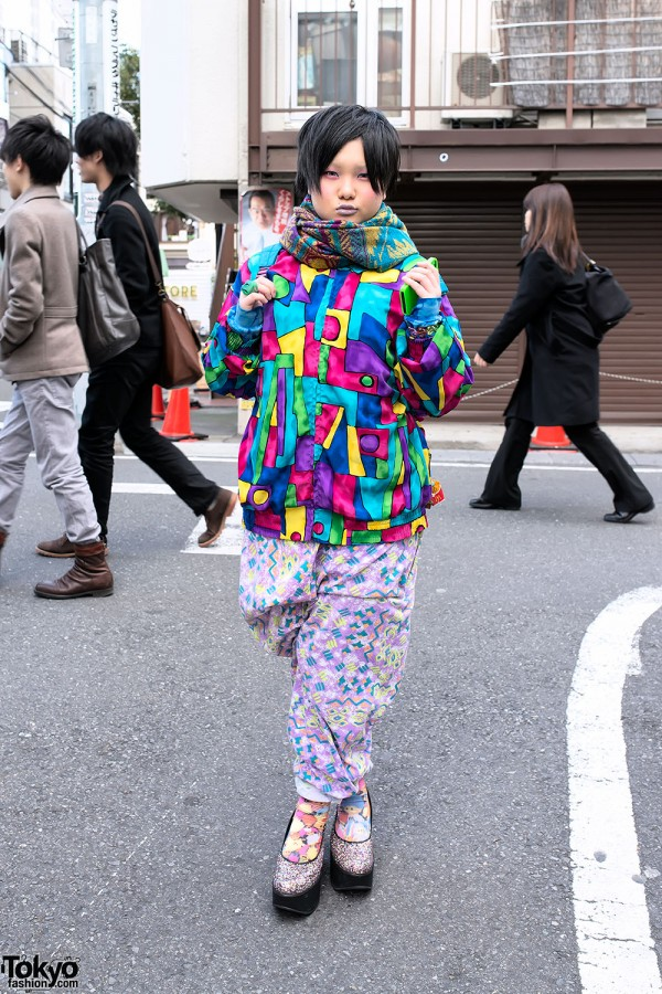Colorful Patterns in Harajuku Street Style