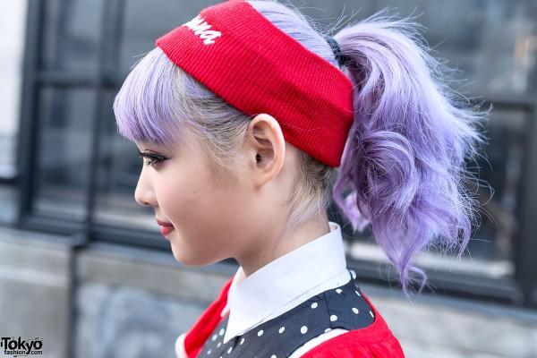 Lavender Hair in Harajuku