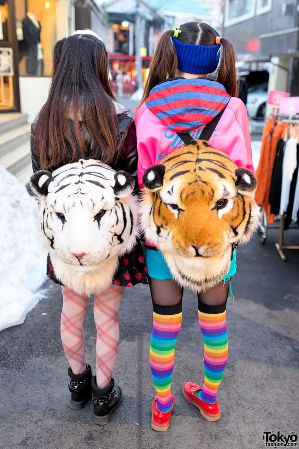 Tiger Backpacks in Harajuku